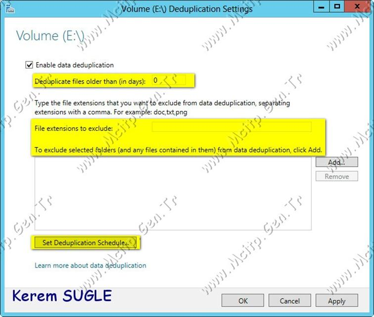 Microsoft Server 2012 File and Storage Server: DeDuplication ve ReFs