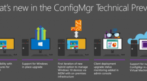 System Center Configuration Manager vNext Technical Preview (SCCM2016) Version ile Gelen Yenilikler