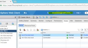 "VCenter 6.5 Single Sign-On ekranında ""Use Windows Session authentication"" aktifleştirme."