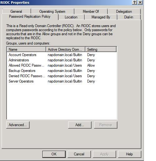 RODC Password Replication Policy ve RODC cache'ini temizleme (2008 R2)