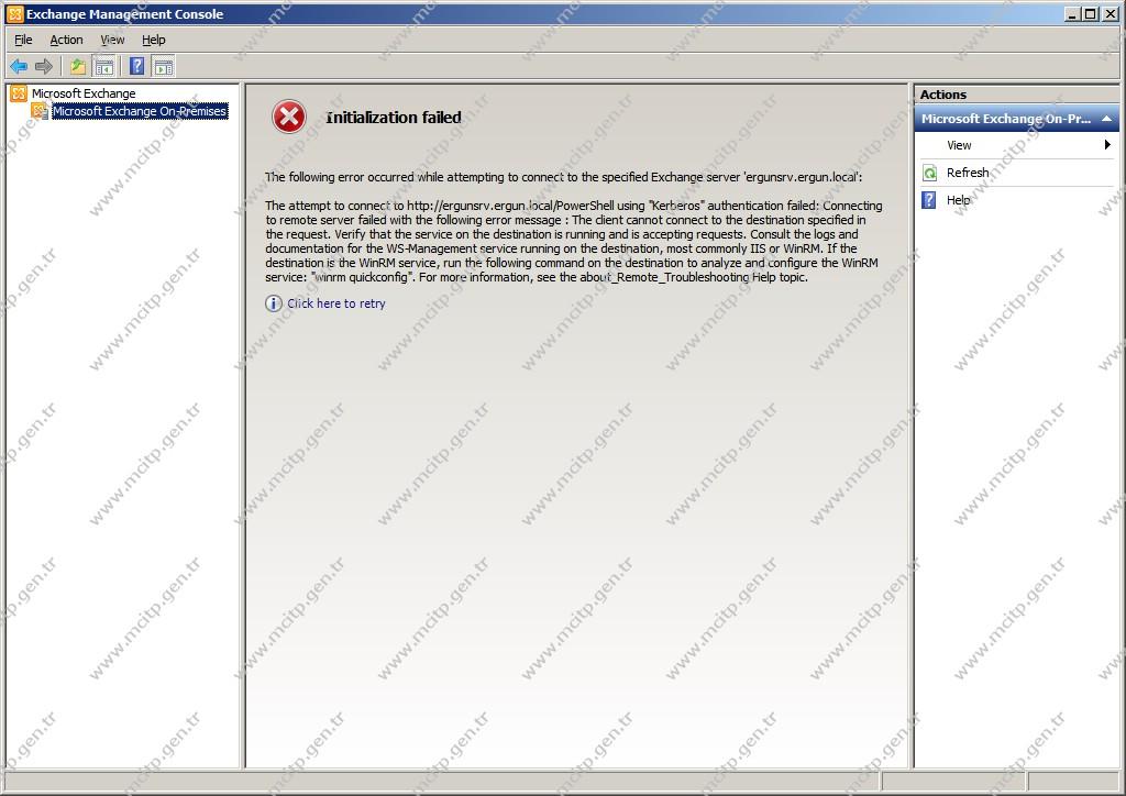 Exchange 2010 Management Console Failed
