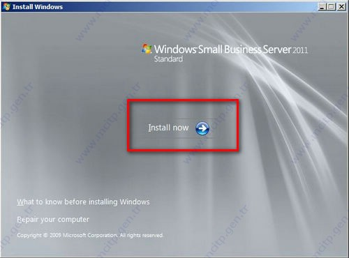 Small Business Server 2011 Kurulumu