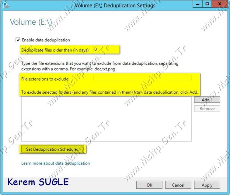 Microsoft Server 2012 File and Storage Server: DeDuplication ve ReFs