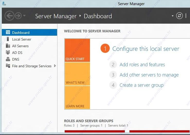 Windows Server 2012 DHCP kurulum ve Konfigurasyonu