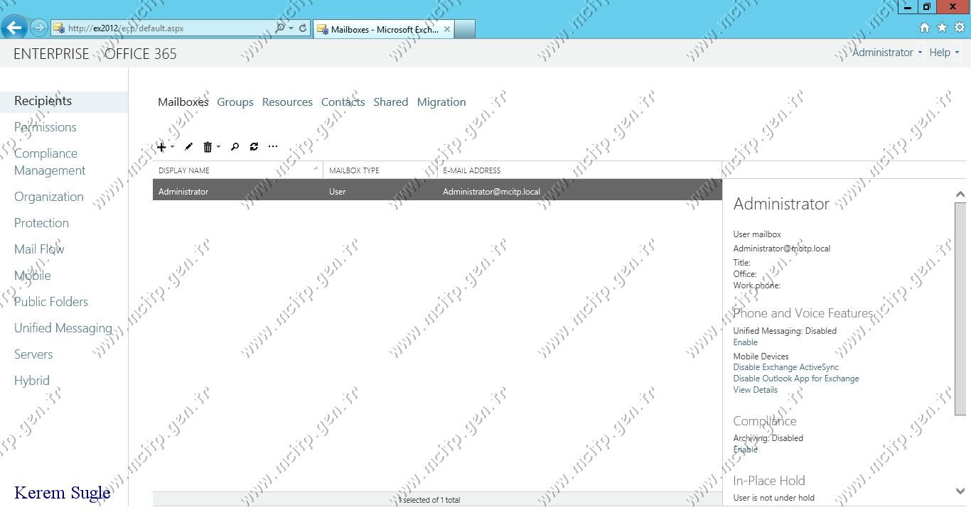 Microsoft Exchange 2013 Kurulum