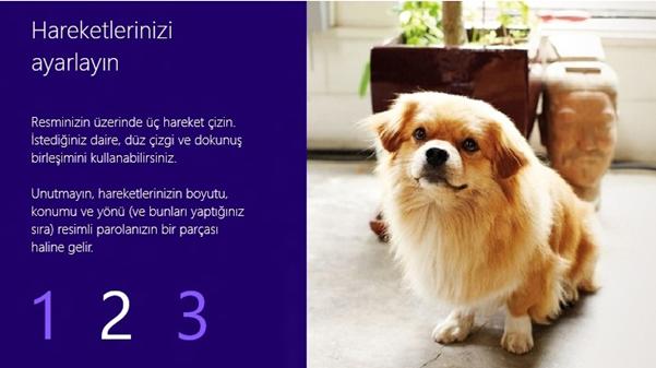 Windows 8 – Resimli parolayla oturum açmak