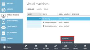 Microsoft Azure Attach Disk Oluşturma