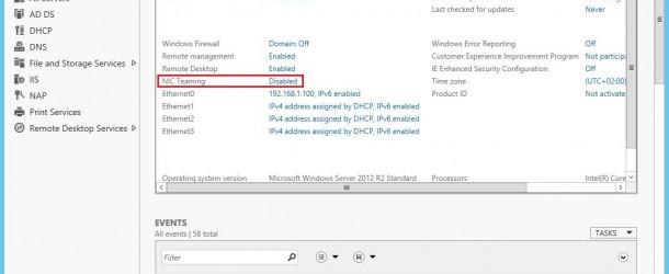 Windows Server 2012 R2'de NIC Teaming Kurulumu