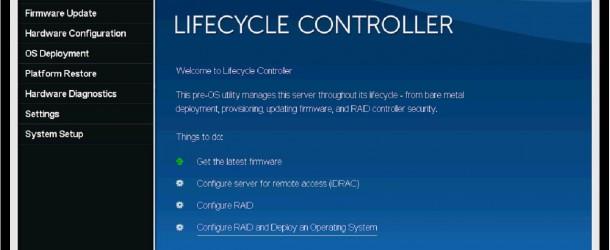 IDRAC ile birlikte Lifecycle Controlle üzerinden Raid ve Os Deploymend