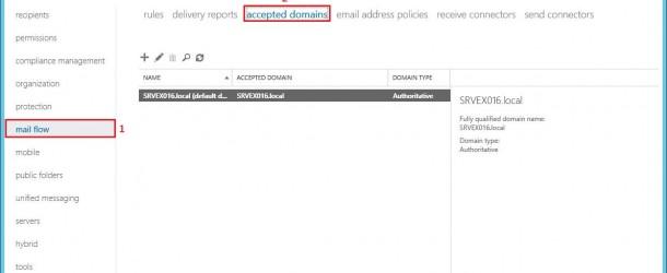 Exchange Server 2016 Accepted Domain Yapılandırması